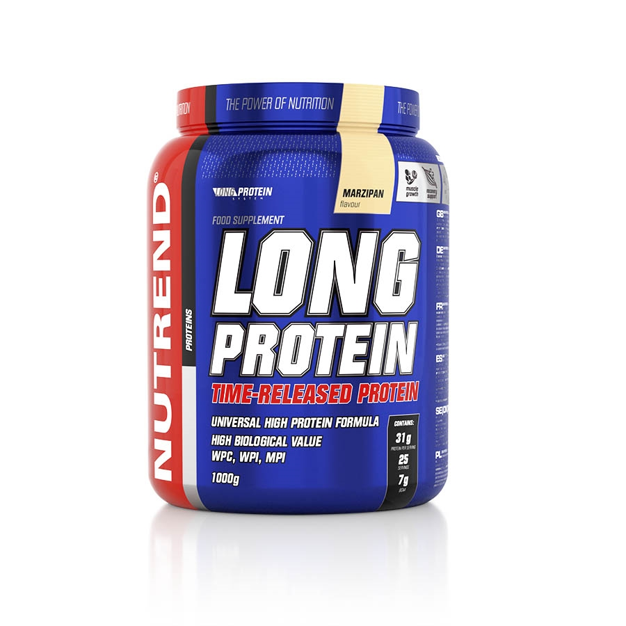 NUTREND LONG PROTEIN 1000g - marcipán