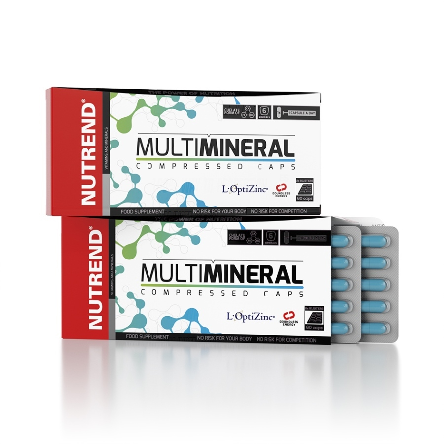 NUTREND MULTIMINERAL COMPRESSED CAPS 60 kapslí